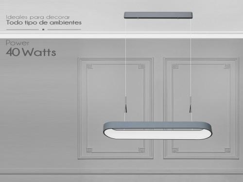 Lampara Led Diseño Elegante Colgante 40w Calida / Fria Mixta