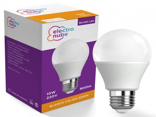 Lampara LED 10w calida E27 220v 3000k Electronube