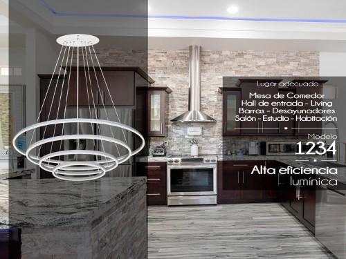 Lampara Led Diseño Elegante Colgante Led 175w Calida / Fria