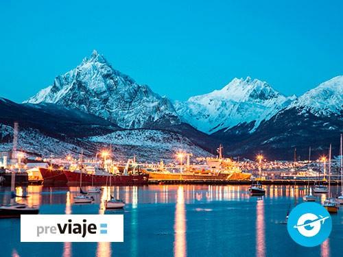 Paquete Ushuaia Julio con Ski: Vuelo + Hotel + Exc (Feriado)