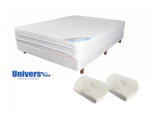 Combo Inner Pillow 140x190+Sommier+Almohadas Viscoelásticas Cervicales