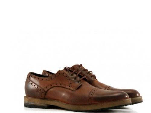 Zapatos de vestir de cuero habano