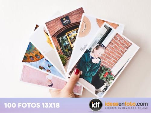 Revelado tradicional de 100 fotos 13x18 mate o brillo.