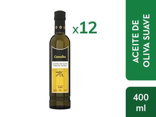 ¡ENVÍO GRATIS! 12 un. Aceite de Oliva Suave Extra Virgen Casalta 400ml