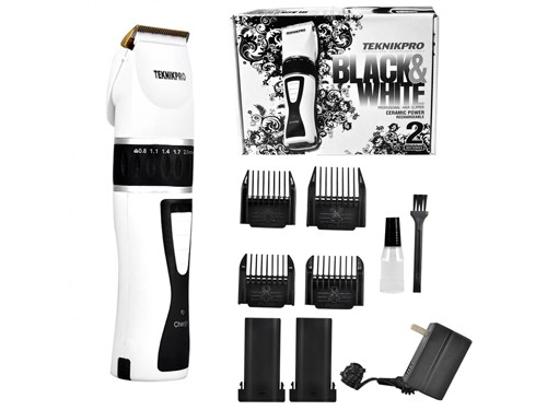 Máquina de Cortar Pelo Profesional Black & White Recargable Teknikpro