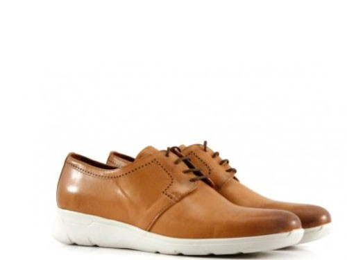 Zapatos acodronados de cuero suela