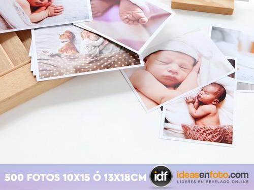 Revelado tradicional de 500 fotos 13x18 mate o brillo.