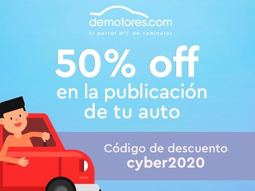 50% OFF en la Publicación de tu Auto