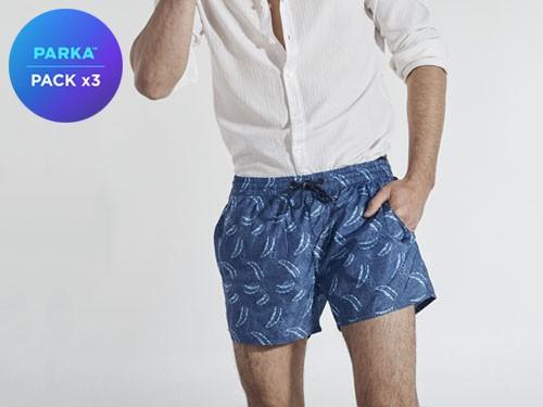 Pack X3 Shorts De Baño Colores A Eleccion