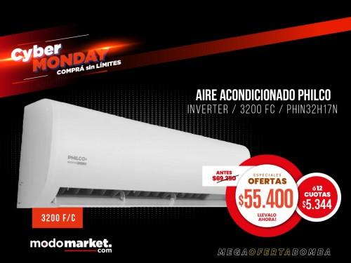 AIRE ACONDICIONADO PHILCO INVERTER 3,2 KW F/C PHIN32H17N