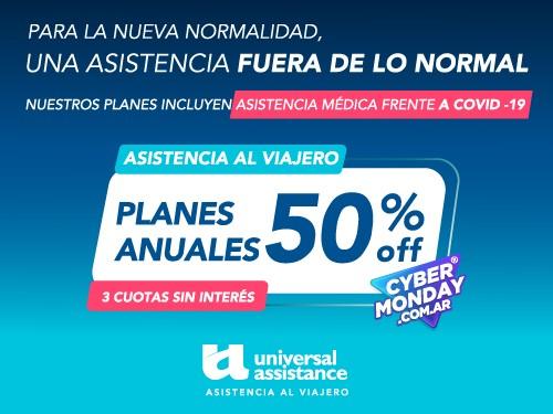 50% OFF en Planes Anuales de Asistencia al Viajero