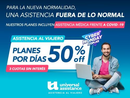 50% OFF en Planes por días de Asistencia al Viajero