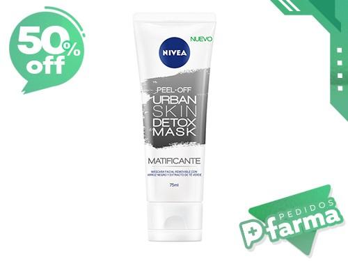 Nivea Facial Máscara Urban Detox Pell Off 75ml