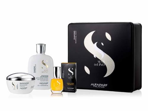 Alfaparf- Diamond Illuminating Shampoo + Mask y Cristalli Liquid