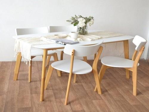 Mesa de comedor nordica moderna madera 140 x 80 diseño Claire