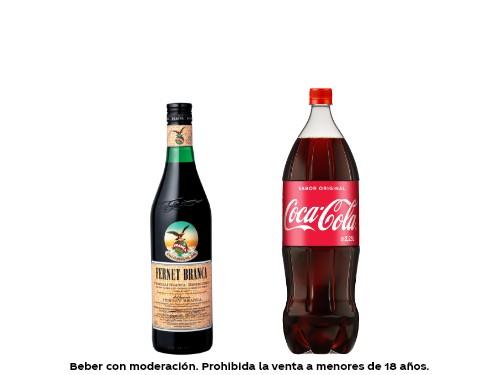 6 Coca-Cola Pet 2.25 lts + 2 Fernet Branca 750 ml
