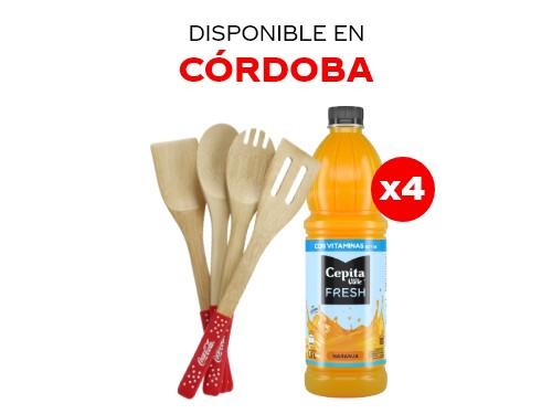 4 Cepita Fresh Naranja 1.5 lts + Utensillos