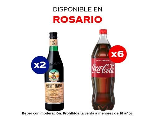 6 Coca-Cola 1.5 lts + 2 Fernet Branca 750 ml