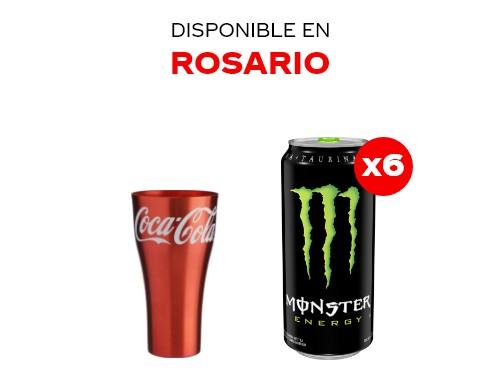 6 Monster Green 473 ml + Vaso de aluminio