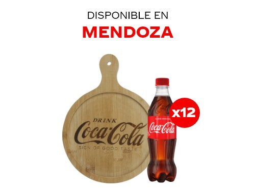 12 Coca-Cola 500 ml + Tabla de madera