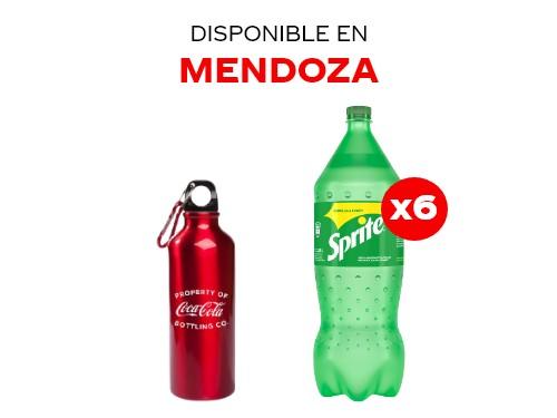 6 Sprite 2.25 lts + Botella metálica