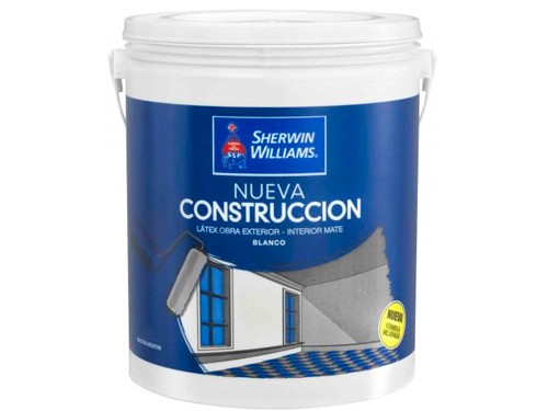 Latex Interior Exterior Nueva Construcción 20 Lts Sherwin Williams