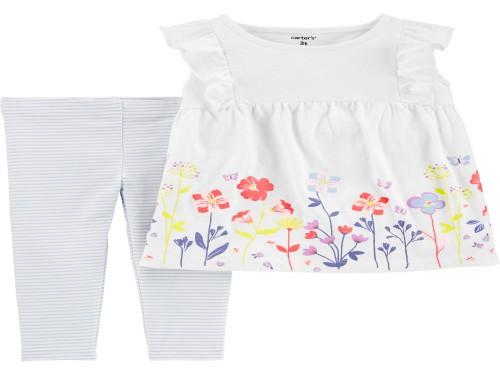 Set 2 piezas Remera y Calzas Floral - Sets Carter´s