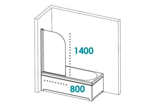 Mampara Baño Rebatible Vidrio Transparente 6 Mm Templado Pringles