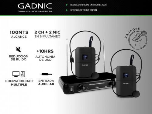 Microfono vincha Inalámbrico GADNIC Karaoke Conferencias