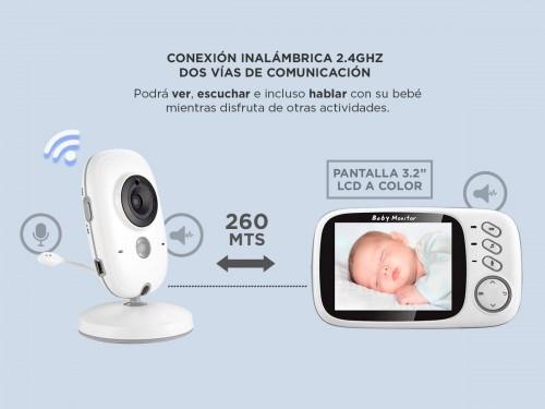 """Baby Monitor Gadnic Visión Nocturna A color 3.2"""""""