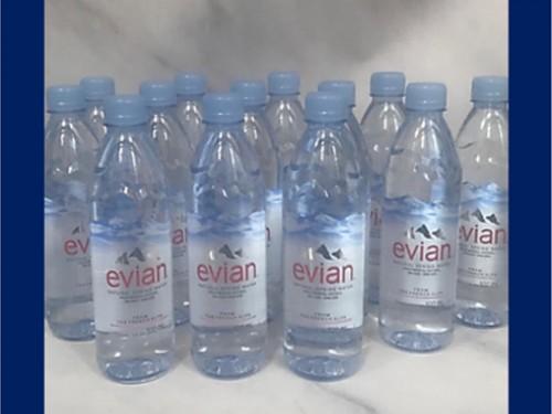 Agua Evián s/gas 500cc pack x24 botellas