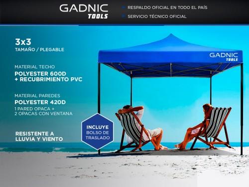 Gazebo Plegable Gadnic 3x3