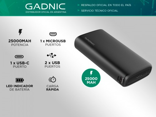 Power Bank Gadnic K25 25000 mAh