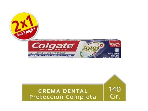 Colgate Crema Dental x140g Total 12 Profesional Whitening