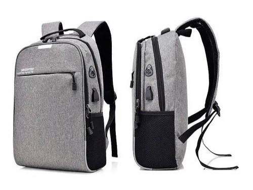 Mochila Antirrobo Notebook Smart Celular Tablet Usb Carga