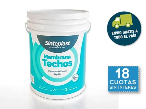 Membrana Liquida Techos Sinteplast Impermeabilizante 20kg