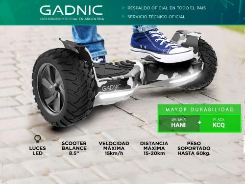 """Patineta Electrica Gadnic 8.5"""" para chicos  Camuflado Hoverboard"""