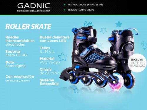 Roller Profesional Gadnic RL01 Aluminio Extensible Ruedas PU