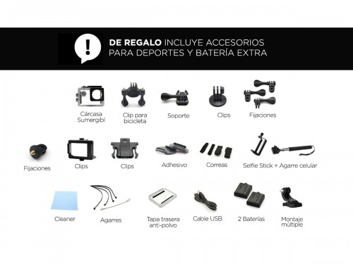 Cámara Deportiva GADNIC SX4 Full HD 1080p 5Mpx