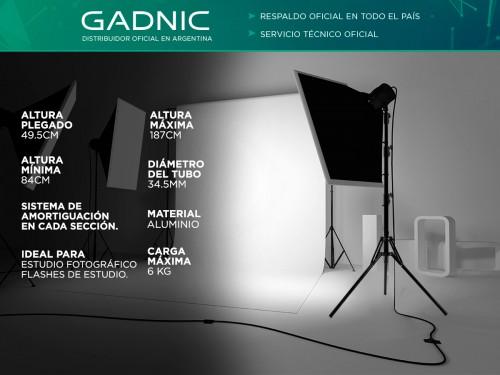 Tripode Gadnic FOTO0010 Para Iluminadores 1.87 Mts