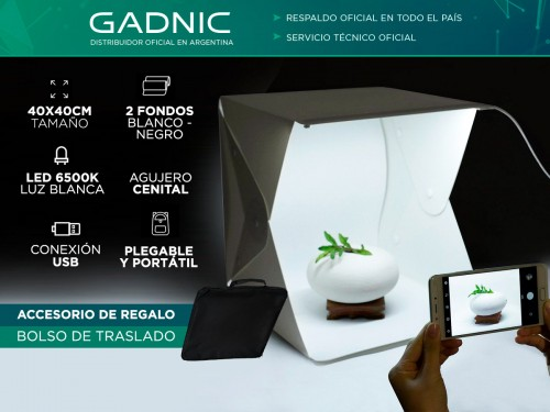 Caja de Luz para Fotografia Profesional Gadnic 40 x 40 cm