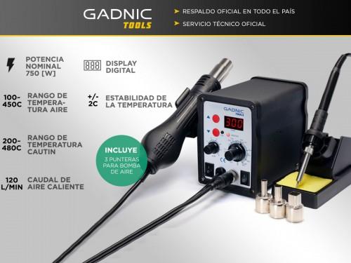 Estación de Soldado Gadnic 878D SMD 750w Profesional