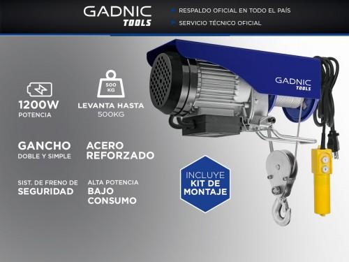Aparejo Eléctrico Gadnic AP500 500kg