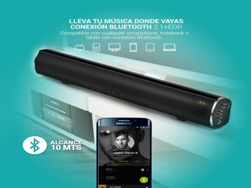 Barra de Sonido Gadnic GD-MD88 Bluetooth Aux USB 3D Surround 90w