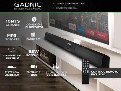 Barra de Sonido Gadnic BS-500 Bluetooth Aux USB Digital Optical 95w