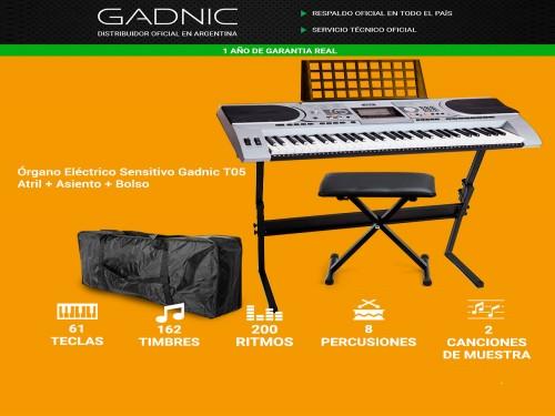 Órgano Eléctrico Sensitivo Gadnic T05 Atril + Asiento + Bolso
