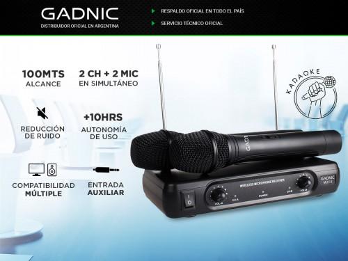 Microfono Inalámbiro de Mano GADNIC Karaoke Conferencias