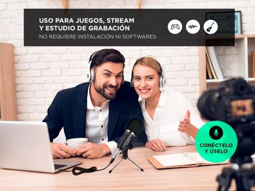 Microfono Condenser Gadnic GM-600 Gamer Stream