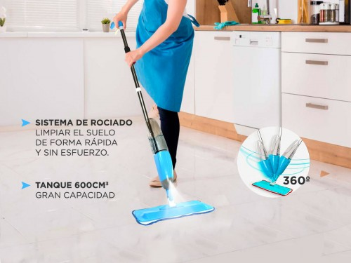 Mopa Gadnic Spray Mope Trapeador Microfibra con Rociador 3 Paños