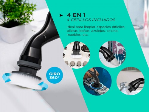 Cepillo Eléctrico de Mano Gadnic CB001 Limpieza 360°